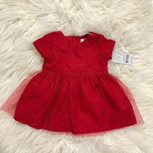 NWT Infant red Christmas holiday dress